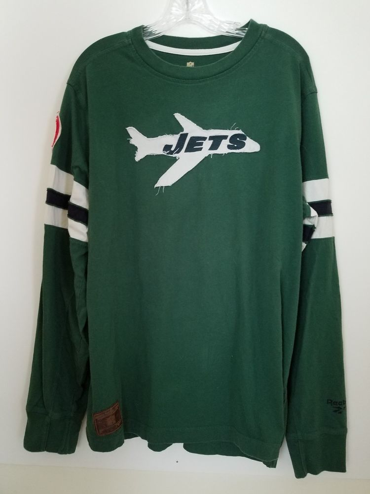 2f7a0eafd NEW YORK JETS NFL REEBOK VINTAGE SNAPBACK RETRO AIRPLANE GREEN JERSEY LARGE  EUC   19.99 End Date  Thursday Nov-29-2018 4 48 41 PST Buy It…