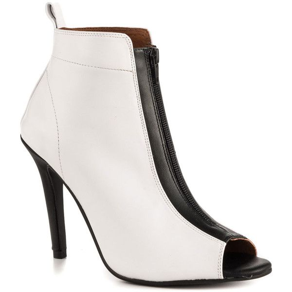 Kobe Husk Women's Olisser Zip Heel - Wt Out Bk In ($209) ❤ liked on Polyvore