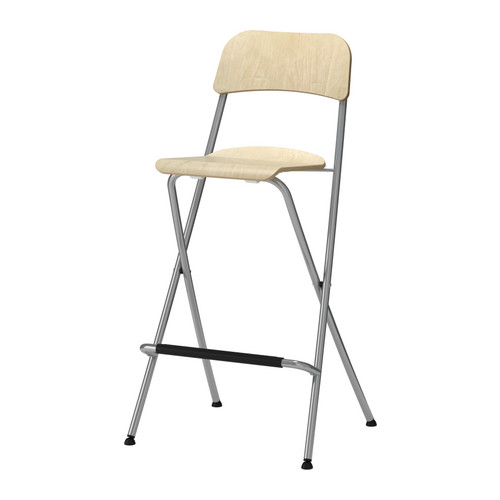 Basement Stools Franklin Bar Stool With Backrest Foldable Birch