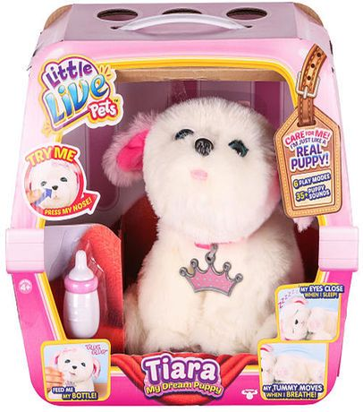 Little Live Pets My Dream Puppy Playset Tiara Little Live Pets Little Girl Toys Toys