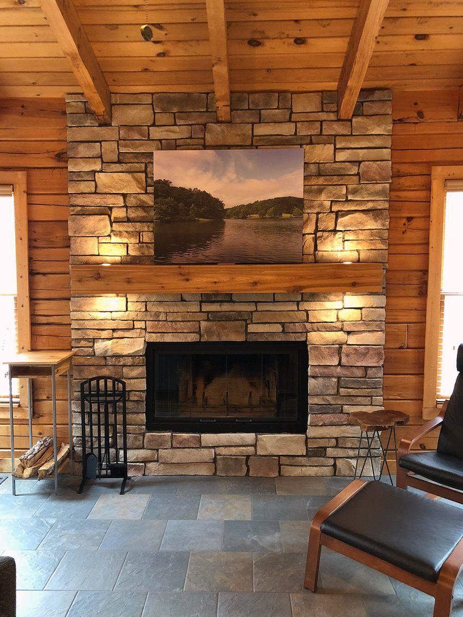 My DIY Stone Veneer Fireplace Project Stone veneer