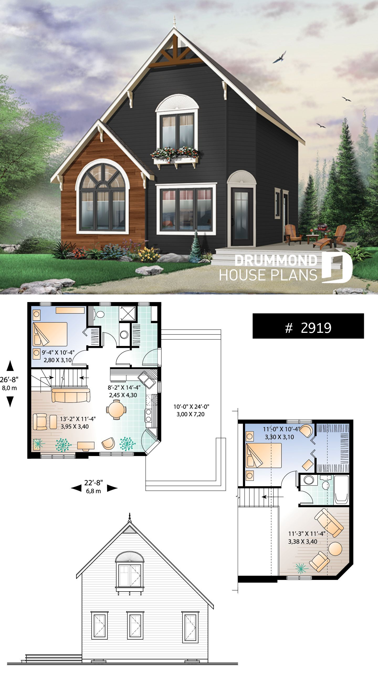 Discover the plan 2919 The Woodlette 1 which will please you for its 2 3 bedrooms and for its Transitional styles