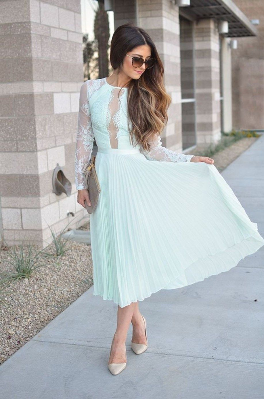 Stylish Long Summer Wedding Guest Dresses15 Lace Wedding Guest Dress Spring Wedding Guest Dress Wedding Attire Guest [ 1386 x 918 Pixel ]