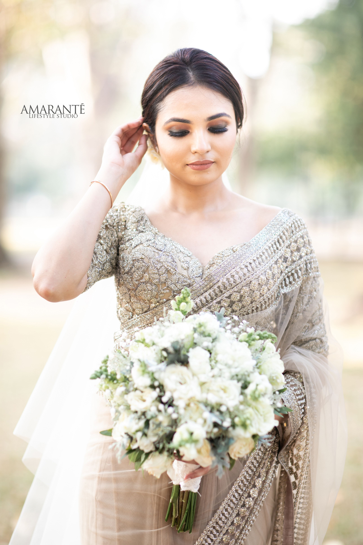 Sri Lankan Bride Engagement Dress For Bride Christian Wedding Sarees Bridesmaid Saree