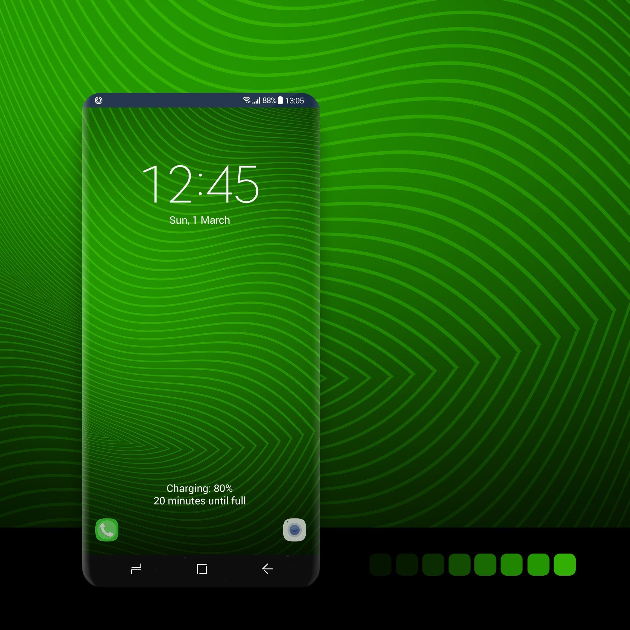 Green Wavy Lines Samsung Wallpaper Samsung Galaxy Samsung Galaxy Wallpaper