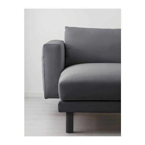 NORSBORG Loveseat with chaise Finnsta dark gray gray IKEA