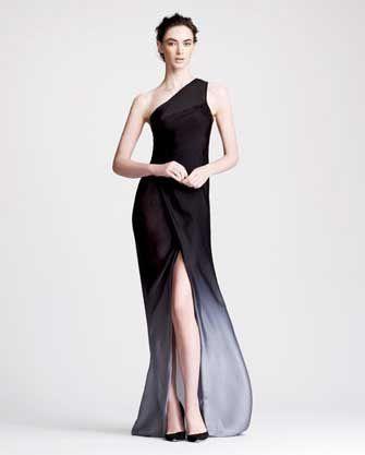dkny pr girl Donna Karan Ombre One-Shoulder Gown, 212 872 8751 ...