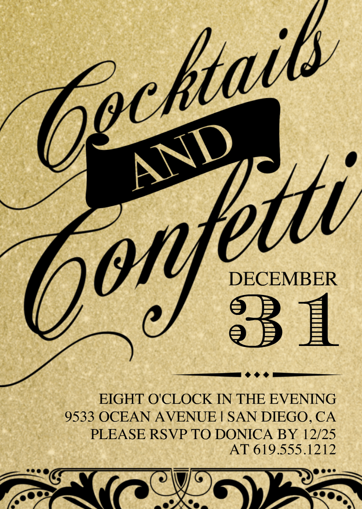 New Year's Invitations New years party themes, Eve parties