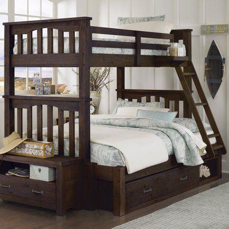 NE Kids Highlands Harper Twin over Full Bunk Bed