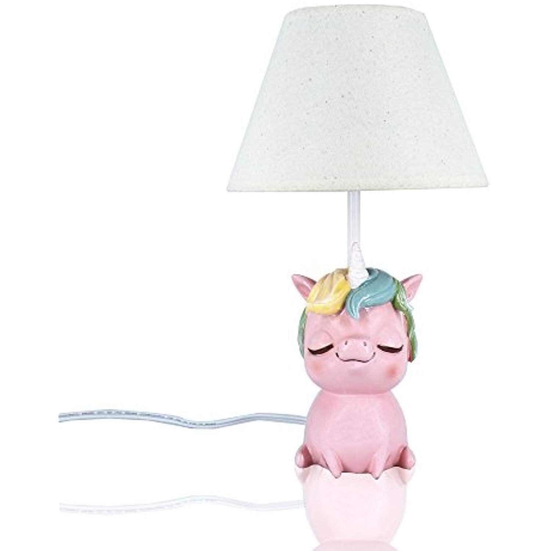 Amazlab Cute Unicorn Table Lamp for Bedroom, Bedside Lamp
