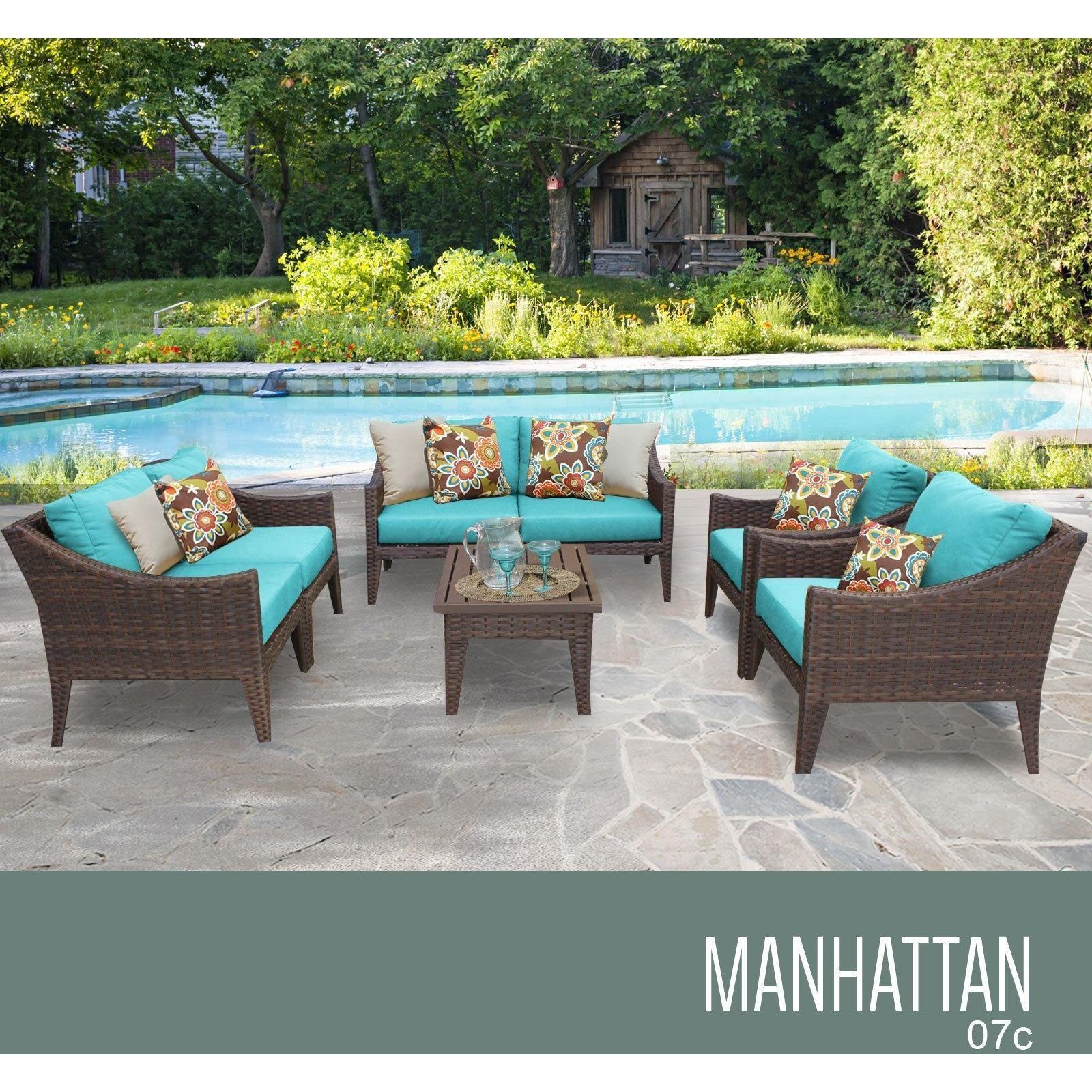 Gentil Manhattan 7 Piece Outdoor Wicker Patio Furniture Set 07c