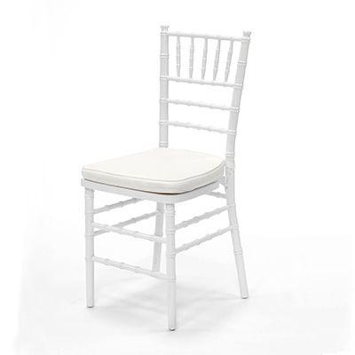 White Chiavari Chair W Ivory Cushion Www Raphaels Com Call To