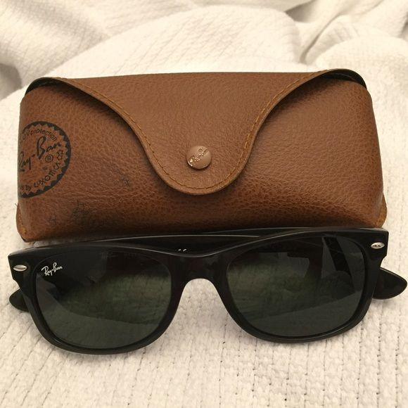 NEWRay Ban New Wayfarer RB2132 Only worn once. No scratches anywhere. Ray ban new wayfarer model number RB2132 NEW WAYFARER 52/18mm. Case is included! I love offers!!! Ray-Ban Accessories Sunglasses