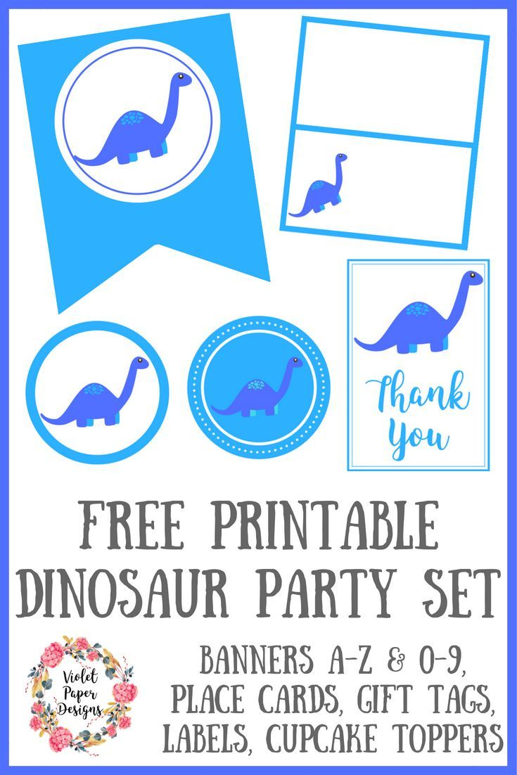 Free Printable Dinosaur Party Set | Best of Organizing and Planners | Pinterest | Free printable Birthdays and Babies  sc 1 st  Pinterest & Free Printable Dinosaur Party Set | Best of Organizing and Planners ...