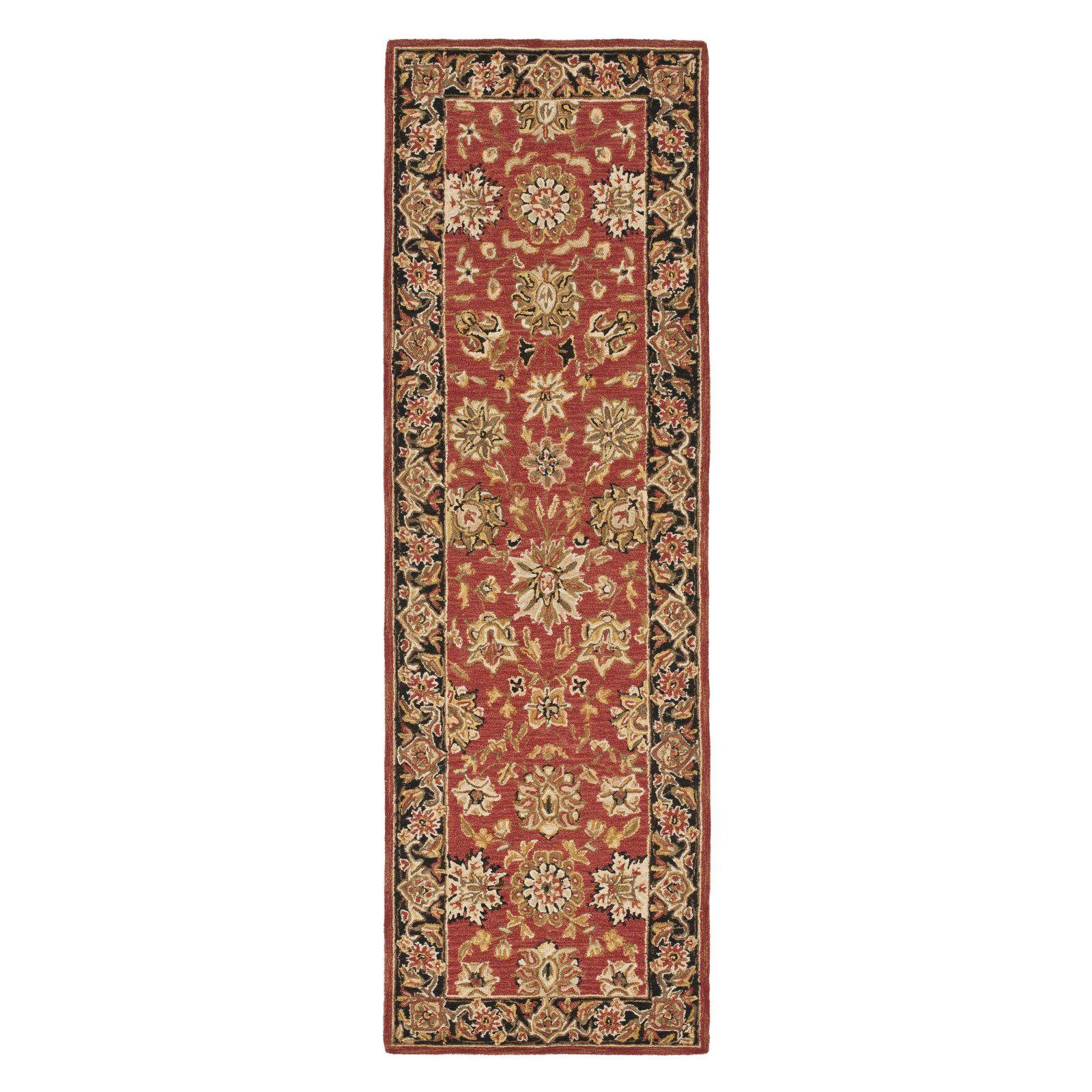 Safavieh Chelsea HK505C Area Rug Rose/Black Red carpet