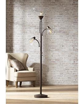 Warwick Tree Torchiere Led Floor Lamp With Edison Bulbs 32y35 Lamps Plus Torchiere Floor Lamp Floor Lamp Floor Lamp Design