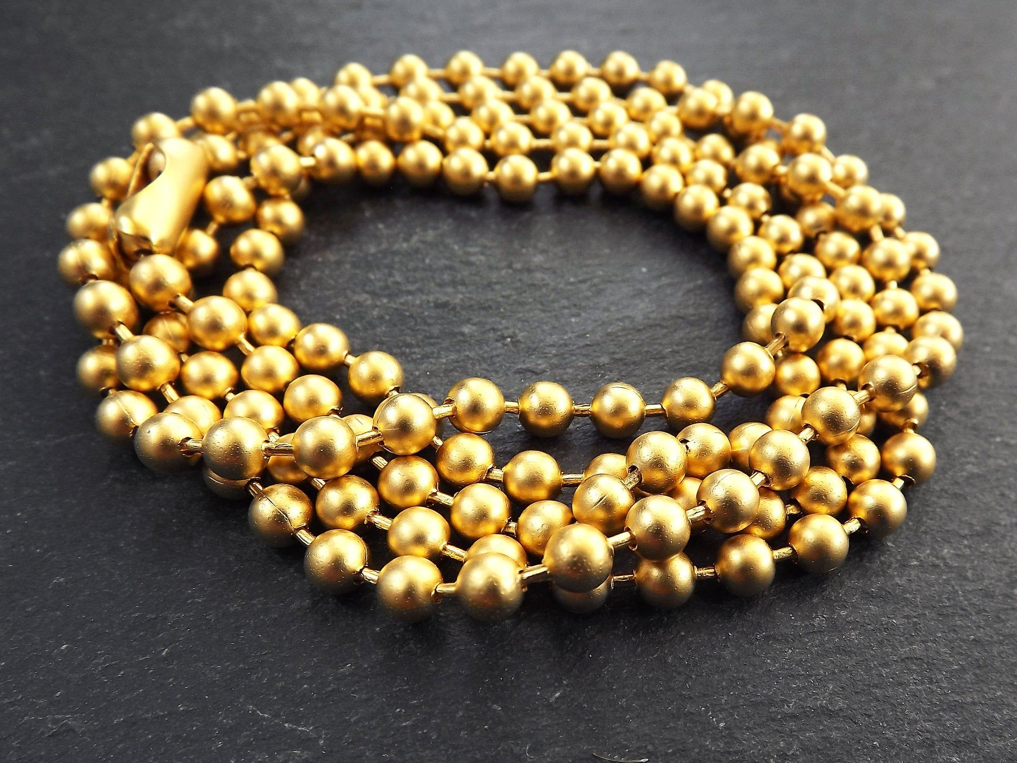4.5mm Gold Ball Bead Chain Large Thick Round Link Chain