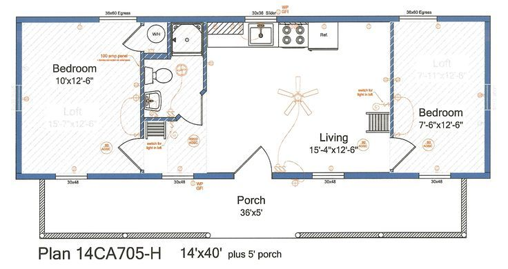 14x40 Floor Plans Google Search Shed Floor Plans Shed House Plans Cabin Floor Plans
