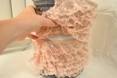 ebe9d7799069 Small Town Small Budget  DIY Lace Baby Romper. So easy