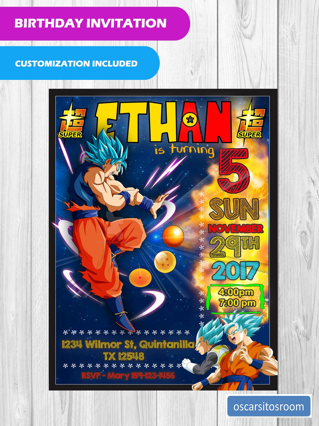 Ball Birthday Parties Kids Party Invitations 8th Decorations Dragon