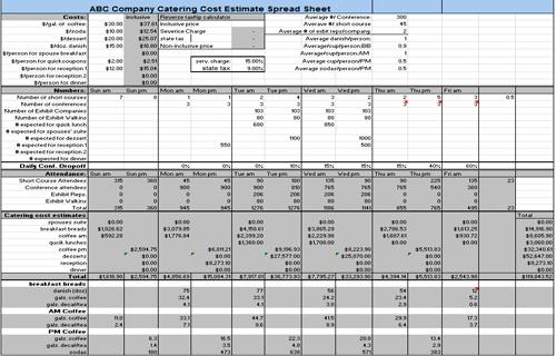 Estimate Cost Of Sun Room Cost Estimate Spreadsheet Sample