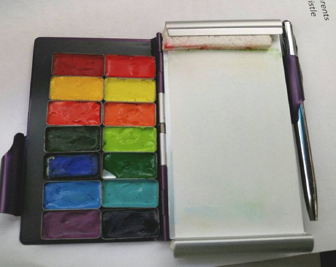 Df Watercolor Palette Travel Double Sided With 28 Empty Paint Tins