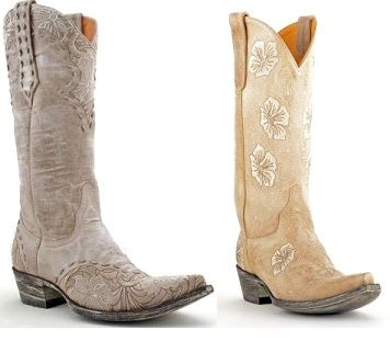 Bride Cowgirl Boots | Top 8 Cowgirl Boots for a Rustic Wedding ...
