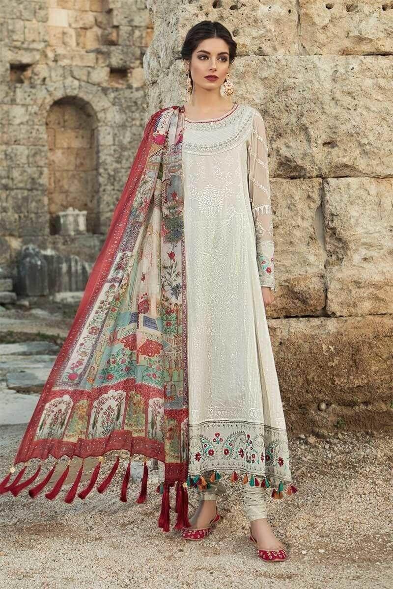 02aca6c083 Pakistani Salwar Kameez Maria.b Luxury Lawn Collection 2019 D-1911-A ...