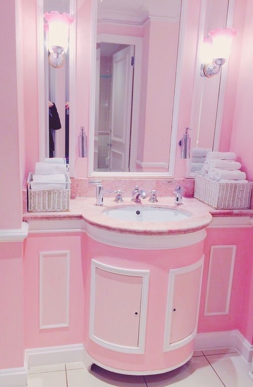 terrific pink bathroom color idea | Pin by Terra Cable on Home Decor/ Dream Houses | Pink ...