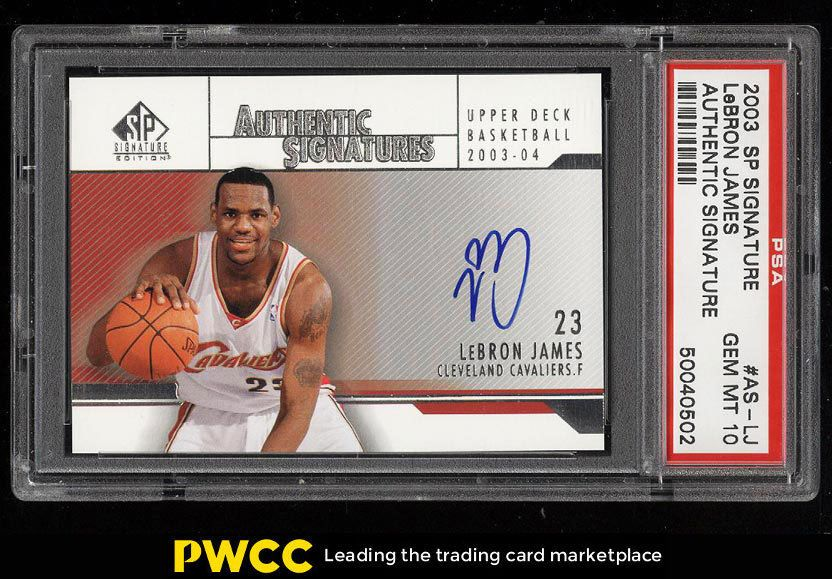 Details About 2003 Sp Signature Edition Lebron James Rookie