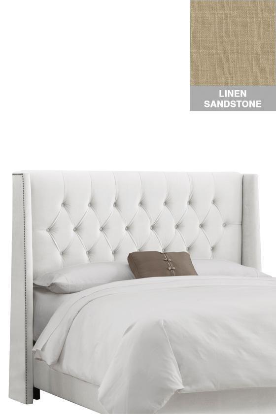 Homedecorators diamond tufted wingback headboard headboards bedroom furniture homedecorators com