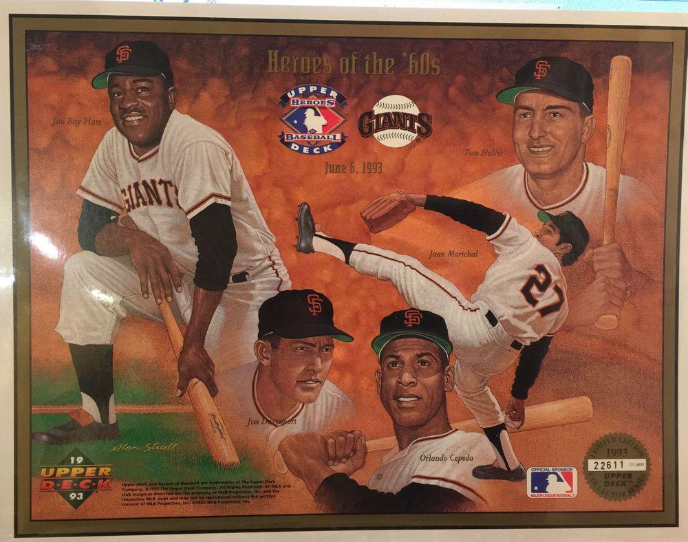 1993 heroes of the 60s upper deck heroes of baseball sf