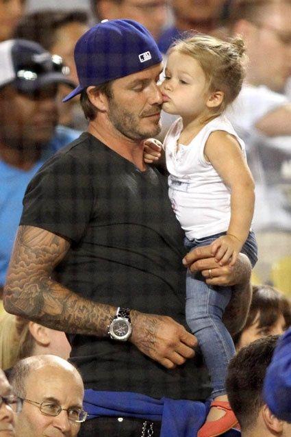 David Beckham And Daughter With Images David Beckham Family