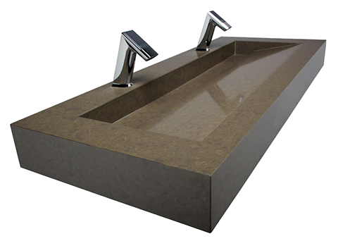 Trough Corian Sink This Type Of Open Front System Uses A Contemporary Linear