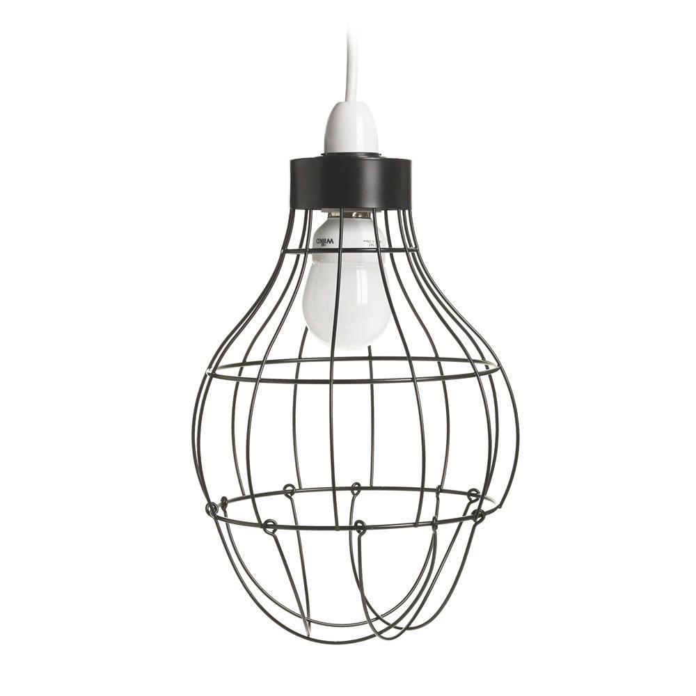 Black Open Wire Pendant Light Shade