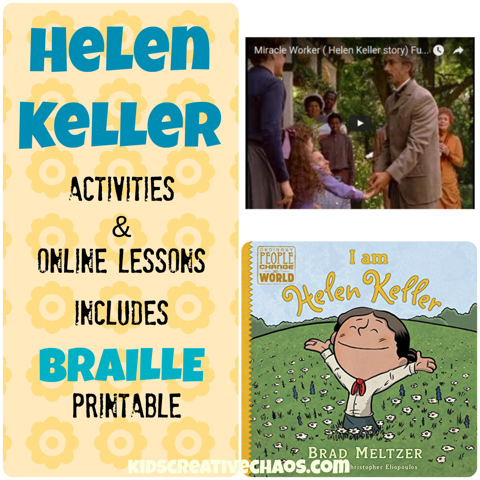 Win a book and enjoy online lessons too! Helen Keller Lesson Plans ...