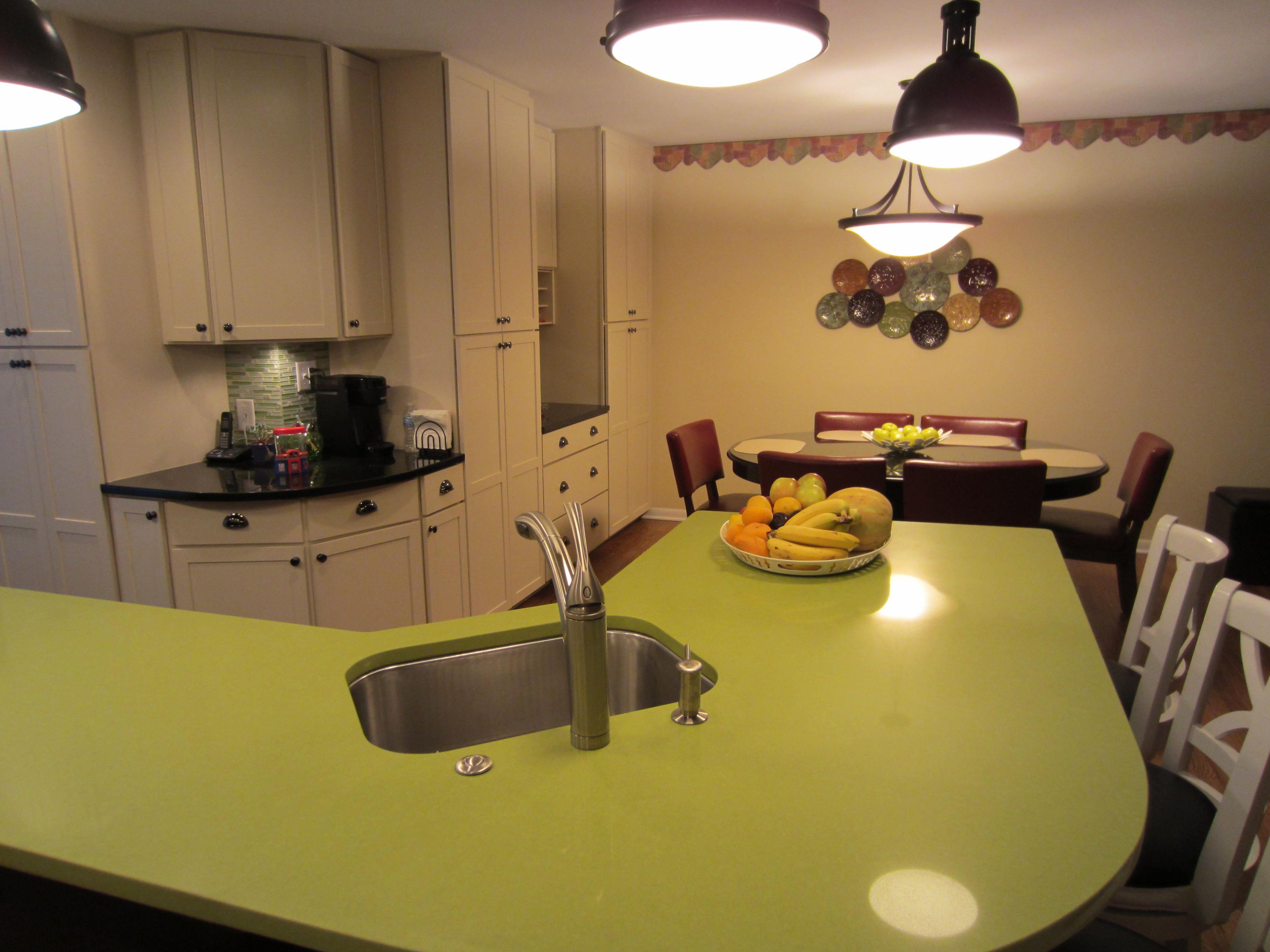 Apple Martini Green Quartz Counter Express Kitchen U0026 Bath Frankfort, IL