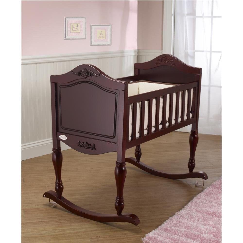 Baby bed furniture - Bassinet Wooden Baby Cradle Baby Rocker Baby Bed Cradle Nursery Furniture Orbelle
