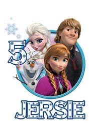 Disney Frozen Movie Tshirt Iron On Transfer Decal