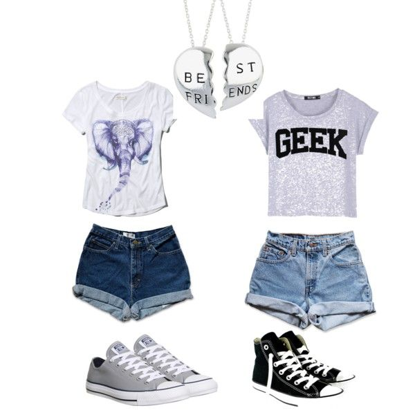A fashion look  featuring Abercrombie & Fitch t-shirts, Levi's shorts and Converse sneakers. Browse and shop related looks.