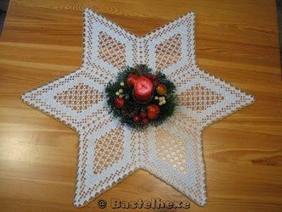 Gehäkelter Weihnachtsstern Häkeln Pinterest