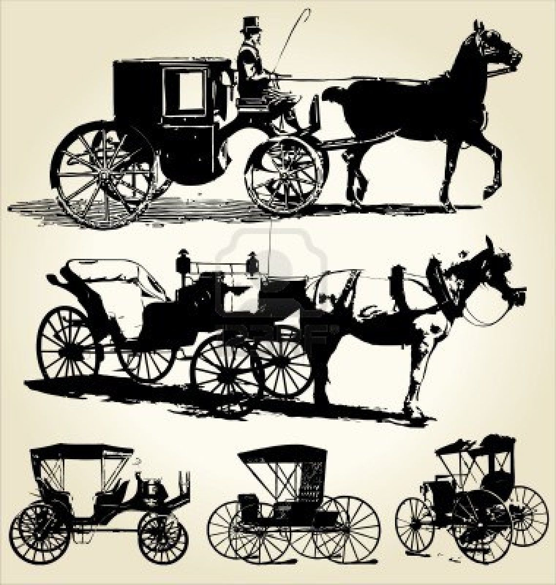 Stock Vector | paper cut cut | Horses, Horse carriage ...