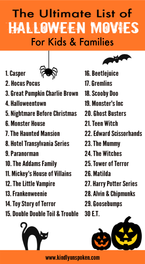 The Best Halloween Movies for Kids and Families Best