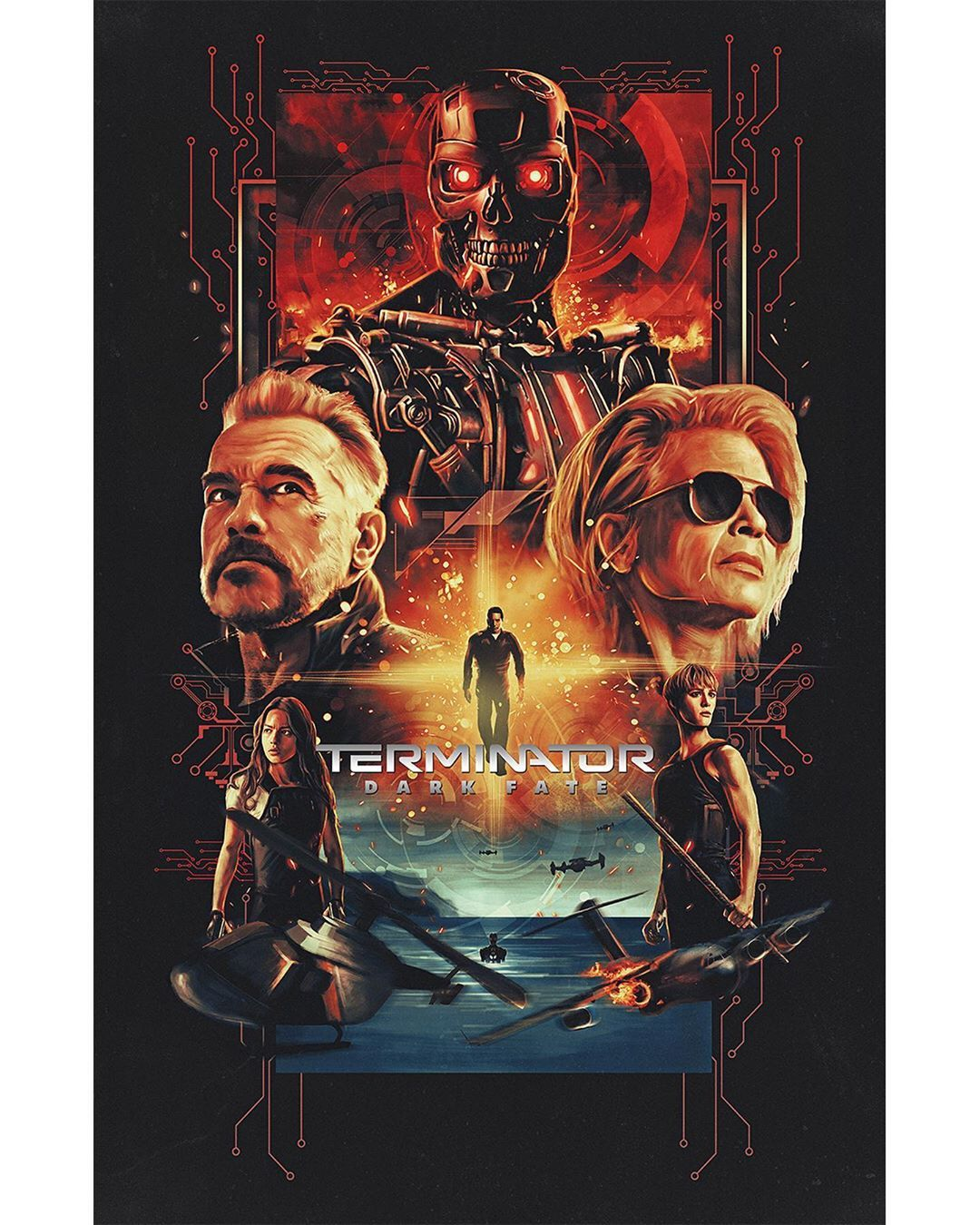 Terminator Dark Fate On Instagram These Original Terminatordarkfate Posters Are Absolutely Fantastic Congratulations To All Of The Art Fan Art Terminator