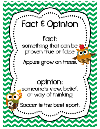 Image result for fact and opinion poster
