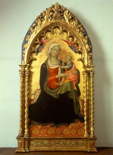 Gherardo Starnina - Madonna dell'Umiltà incoronata da due angeli - 1404-1405 - tempera su tavola - Museo Diocesano Milano
