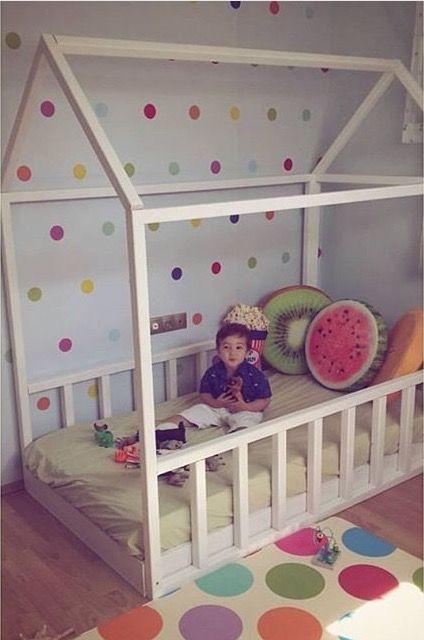montessori house bed baby pinterest kinderzimmer kinderzimmer ideen und bett. Black Bedroom Furniture Sets. Home Design Ideas
