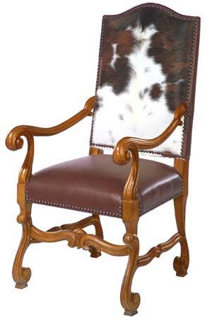 Attractive Big Sky Western Chair Western Dining Chairs   Cowhide Chair Back And  Leather Seat. No Two Cowhides Are Alike, So You Can Expect A Variation In  The Markings, ...