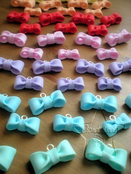 Ciondoli dolci, Charms e Bijoux Hand Made in Fimo. - #bijoux #charms #Ciondoli #dolci #Fimo #hand #howtomakeabowwithribbon