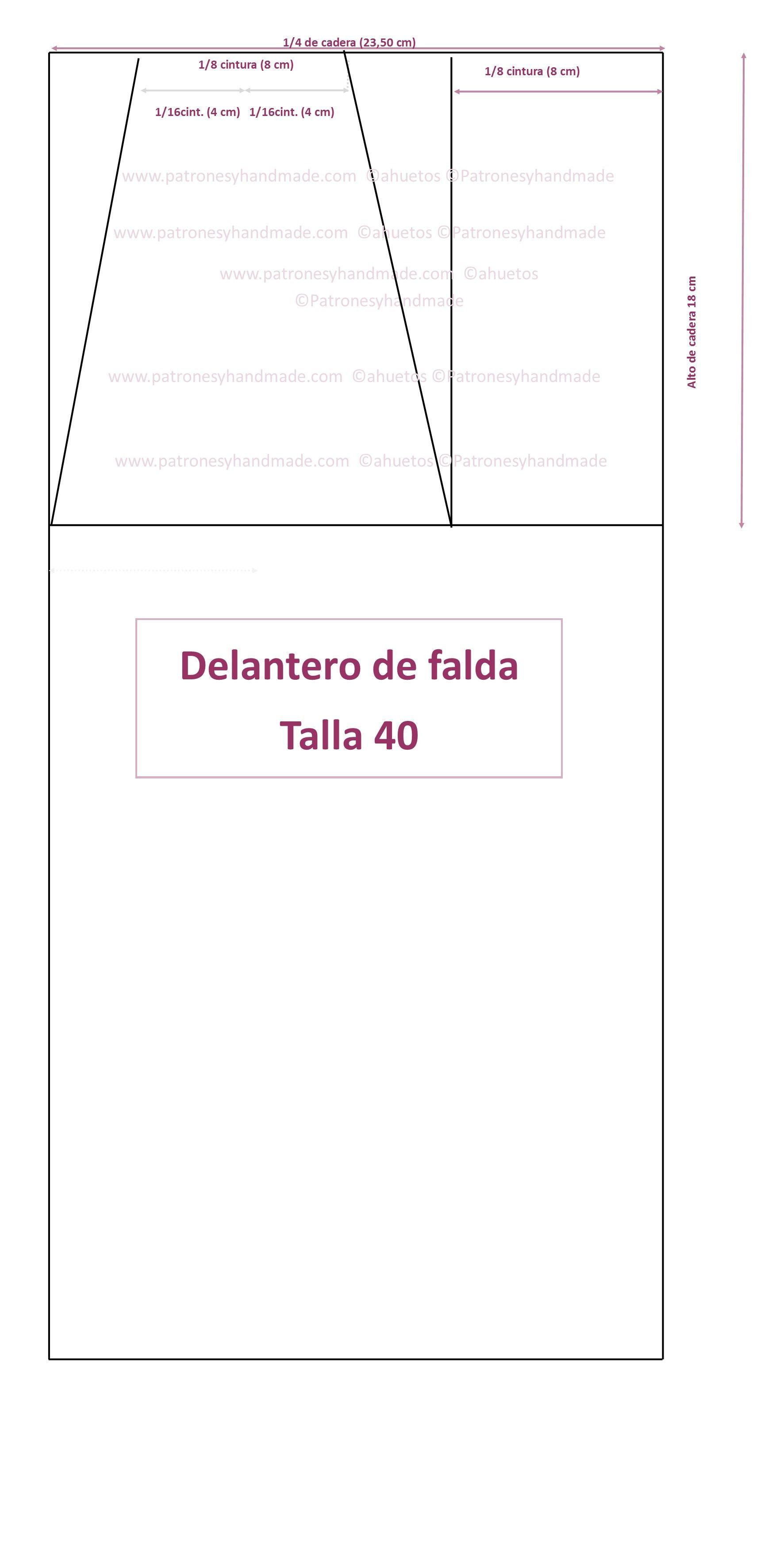 de7507b67 Patrón base falda talla 40 | Molde | Line